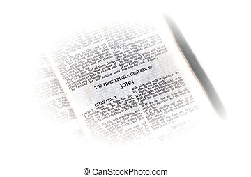 john, bibbia, aperto, vignette