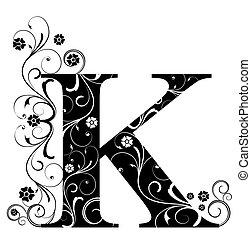 k, lettera, capitale
