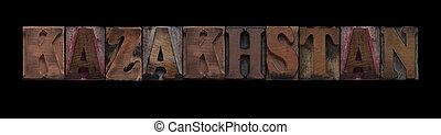 kazakhstan, tipo, legno, vecchio