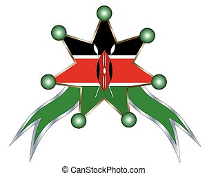 kenia, nazionale, medaglia, bandiera