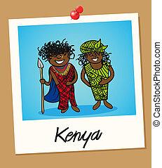 kenia, viaggiare, polaroid, persone