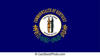 kentucky, stati, unito, america, vettore, bandiera