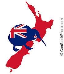 kiwi, zelanda, nuovo