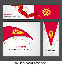kyrgyzstan, set, fondo, bandiera, giorno, indipendenza, felice