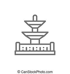 la, concorde, de, parigi, fontane, francia, posto, punto di riferimento, icon., linea