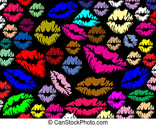 labbra, stampe, colorito