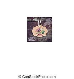 label., mano, vino, acquarello, vendemmia, illustration., disegnato