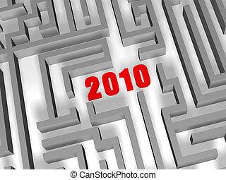 labirinto, 2010, rosso