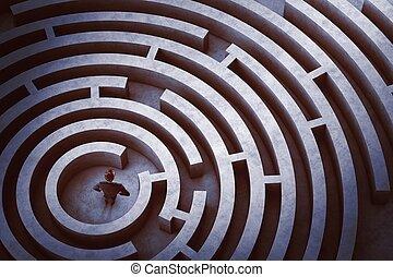 labirinto, centro