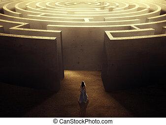 labirinto, donna