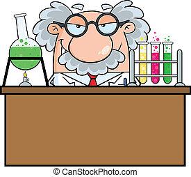 laboratorio, professore
