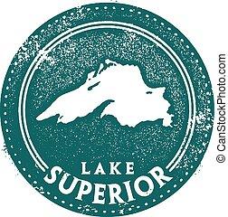 lago superiore, francobollo, viaggiare