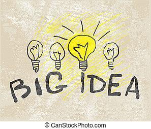 lamp., innovativo, idea, grande