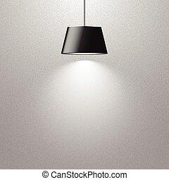 lampada, appendere