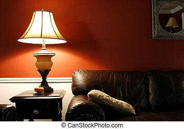 lampada, divano