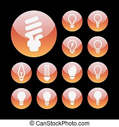 lampada, icone