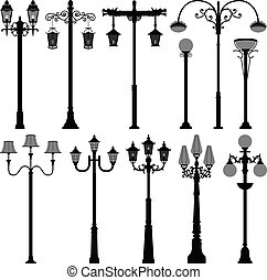lampada, lampione, palo, luce stradale, polo