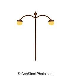 lampada, luce, icona, palo, strada