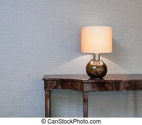 lampada tavola, credenza