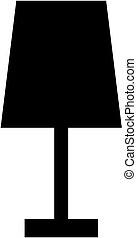 lampada, vettore, illustration., icona, silhouette.