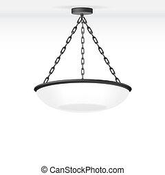 lampada, vettore, isolato
