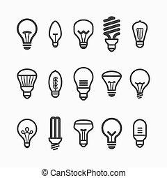 lampadina, icone