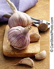 lampadine, aglio, intero