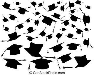 lanciare in aria, fondo, cappucci graduazione