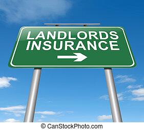 landlords, concept., assicurazione