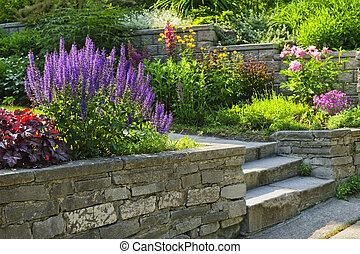 landscaping, giardino pietra