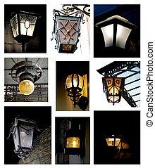 lanterne, strada, collezione