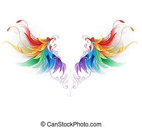 lanuginoso, arcobaleno, ali