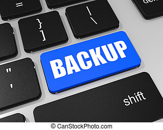 laptop, backup, chiave, computer., tastiera