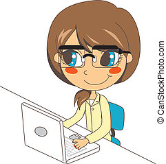 laptop, lavorativo, segretario