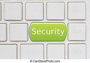 laptop, sicurezza, chiave, tastiera