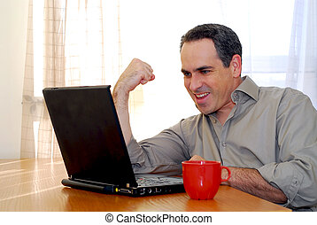 laptop, uomo