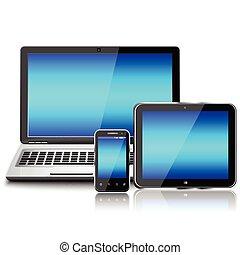 laptop, vuoto, computer, smartphone, pc, schermo, tavoletta, mobile