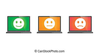 laptops, esame, icone