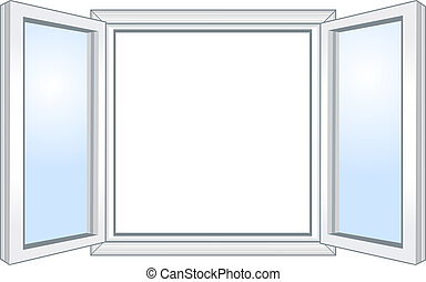 largo, finestra, aperto