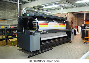 largo, formato, prin, -, stampa, digitale