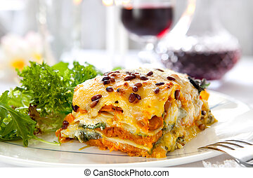 lasagna, vegetariano