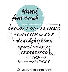 latino, lettere, alfabeto, vettore, font., corsivo, scritto mano