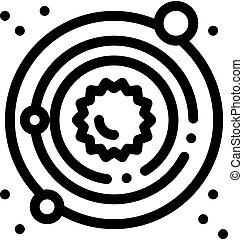 latteo, icona, modo, sistema, solare, illustrazione, contorno