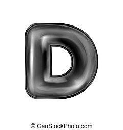 lattice, d, alfabeto, simbolo, nero, gonfiato