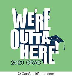 laureato, classe, 2020, tipografia, congratulazioni, nappa, berretto