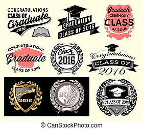 laureato, classe, settore, congrats, set, graduazione, grad, congratulazioni, 2016