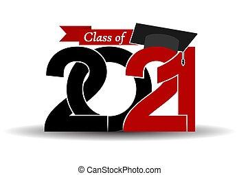 laureato, vettore, classe, disegno, 2021, tema, graduazione, illustrazione, cap.
