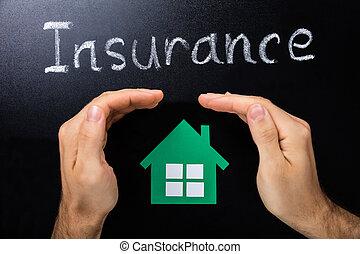 lavagna, concetto, assicurazione