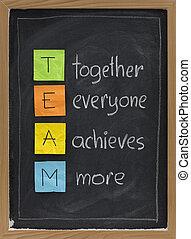 lavagna, concetto, lavoro squadra