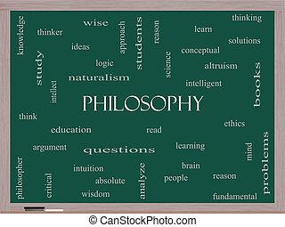 lavagna, concetto, parola, nuvola, filosofia